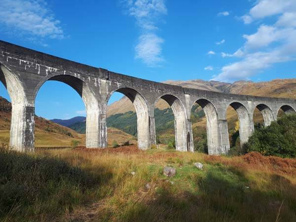 Coast trip along the west coast of Scotland and visit at Glenfinnan Viaduct
